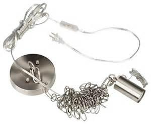 Plug In Swag Lamps Chandeliers Brushed Steel Small Shade Swag Plug In Diy Chandelier