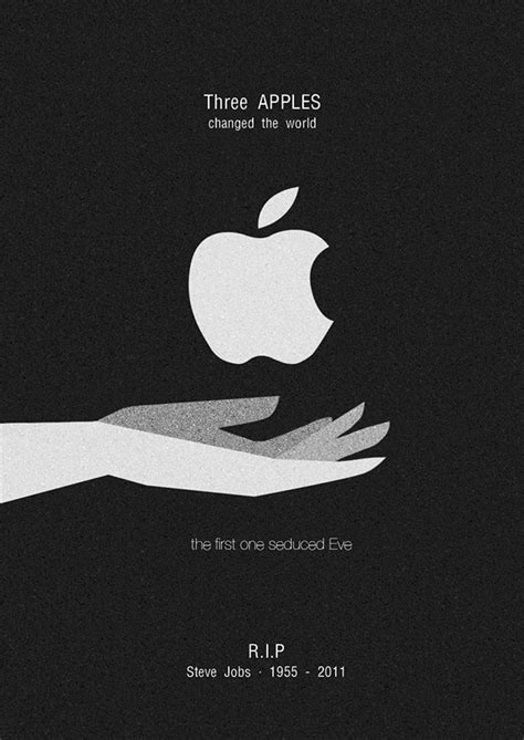 poster layout mac r i p steve jobs inspired by hk artist jonathan on behance