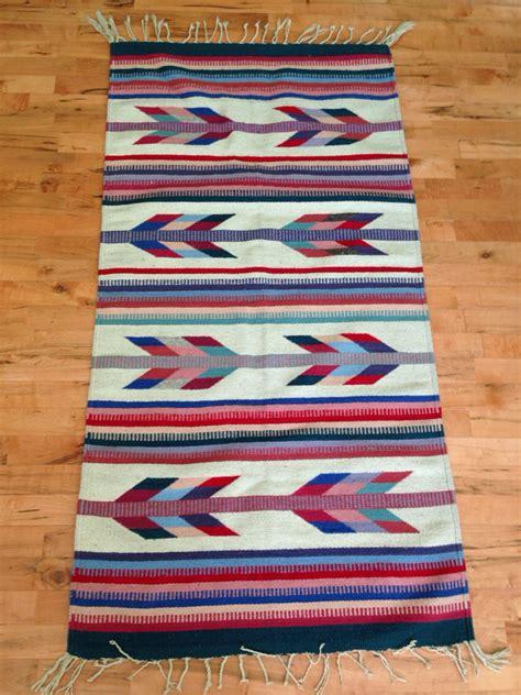 american woven rugs vintage american woven rug runner southwestern 1980s