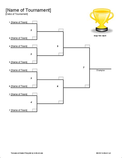 tournament table template tournament bracket templates for excel 2016 march