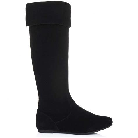 buy midnight knee high slouch boots black suede