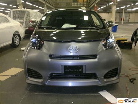 scion customization scion iq brushed aluminum wrap vehicle customization