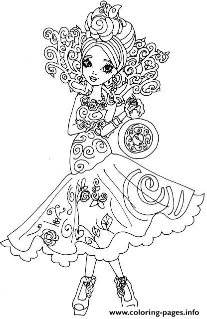 ever after high coloring pages that you can print briar beauty way too wonderland ever after high coloring