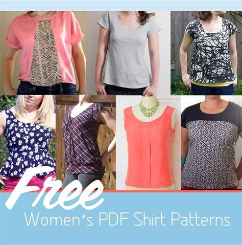 sewing pattern ladies top 9 free women s pdf shirt patterns craft buds pdf
