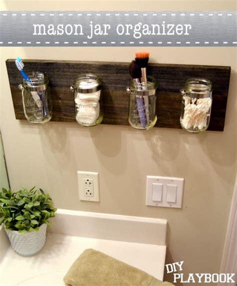 diy bathroom organizer diy mason jar bathroom organizer diy craft projects