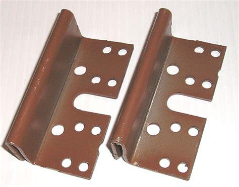 bed brackets bed post bracket 2 pack for 2 hook slot bed rail plates