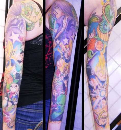 dragon ball z tattoo sleeve z sleeve