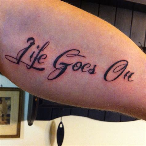 life goes on tattoos biceps tattoos and designs page 86