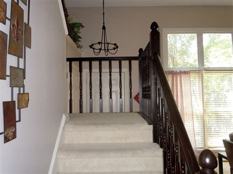 Staining Banister by Diy Stair Banister Makeover Using Gel Stain