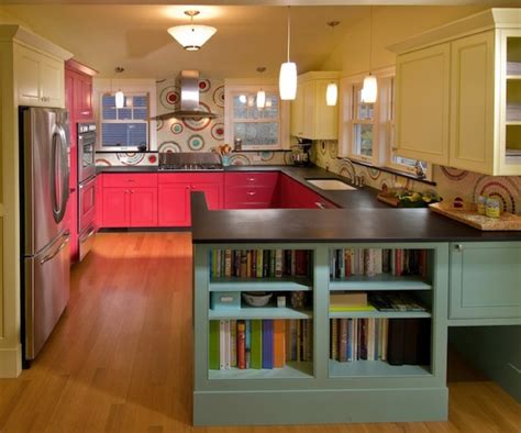 coral kitchen brighten your creative kitchen with colorful cabinetry ideas