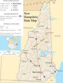 Nh State Map by Map Of New Hampshire New Hampshire Maps Mapsof Net