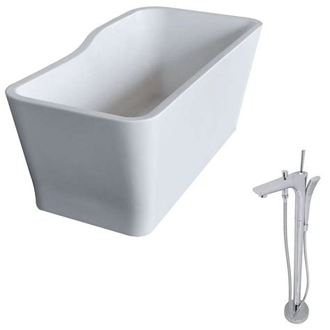 7 Ft Bathtub by Anzzi Salva 5 7 Ft Acrylic Classic Freestanding