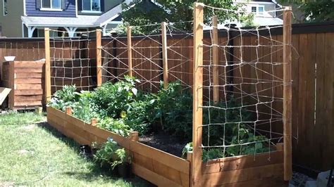 Garden Trellis Plans building a raised garden bed part 3 youtube