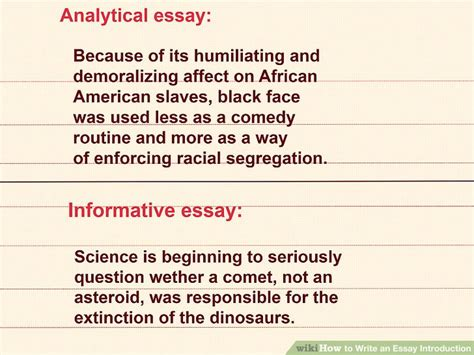 How To Write Introduction In Essay by How To Write An Essay Introduction With Sle Intros