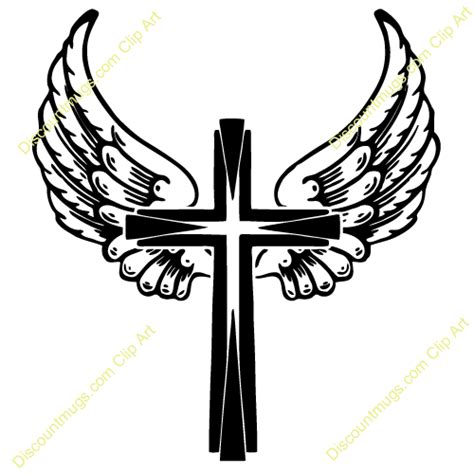 cross with wings clipart