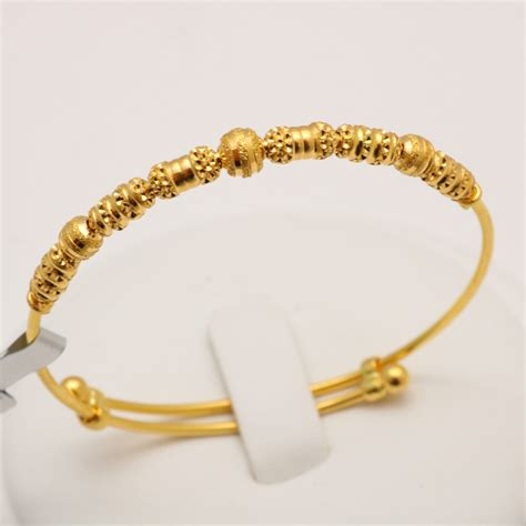Gold Baby Gold 2 by 22 Carat Gold Baby Bangle 5 8 Grams Gold Forever