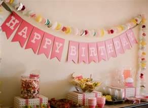 Handmade Birthday Decorations Ideas - pink diy cupcake birthday