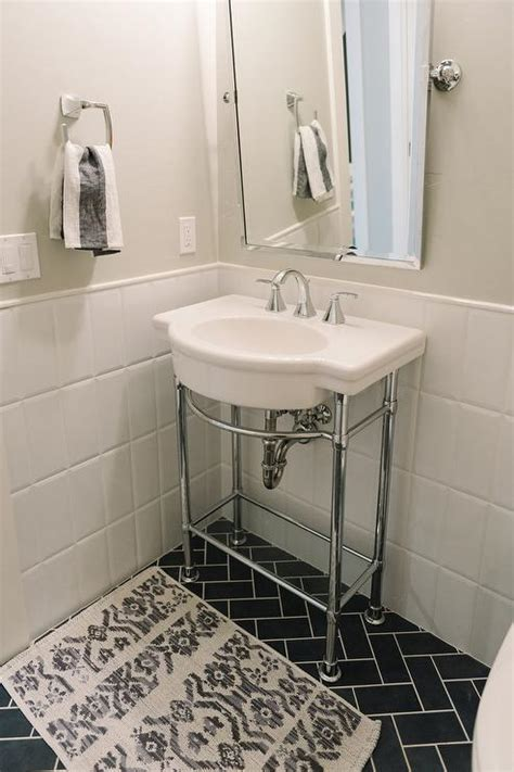 wall colors for guest bath with black and white tile floors halflifetr info