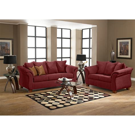 Adrian Sofa Red American Signature Furniture American Signature Living Room Furniture