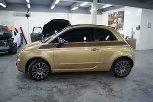 Fiat 500 Gucci Edition Fiat 500 Gucci Edition Gold Metallic Foilacar