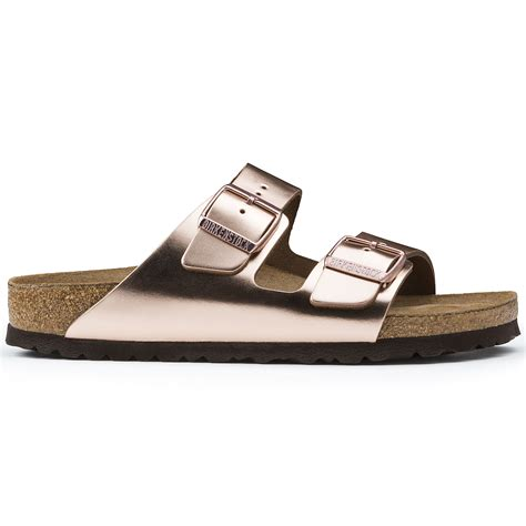 birkenstock arizona soft footbed metallic copper arizona leather metallic copper birkenstock
