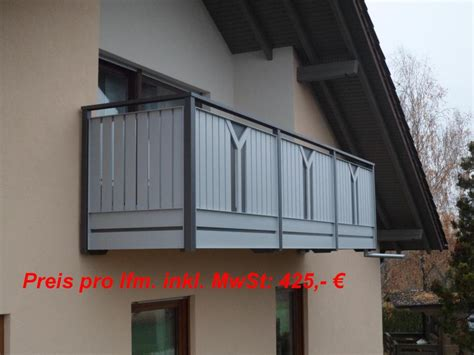 Balkongeländer Bausatz by Balkongelaender Auburger Balkongel 228 Nder Aus Aluminium