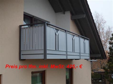 Balkongeländer Preise by Alu Balkongel 228 Nder Preise