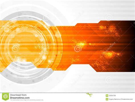 design banner orange dark technology vector design stock vector illustration