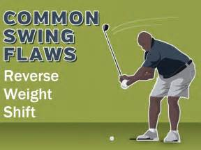 weight shift golf swing common swing flaws reverse weight shift plugged in golf