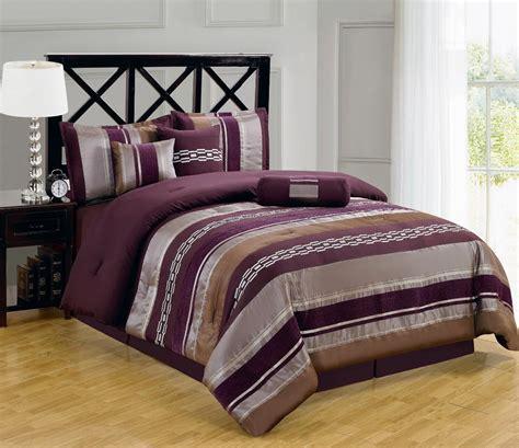 7pc luxury claudia purple comforter set