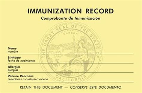 Calif Records Hslda New California Immunization Record Keeping And Reporting Requirements