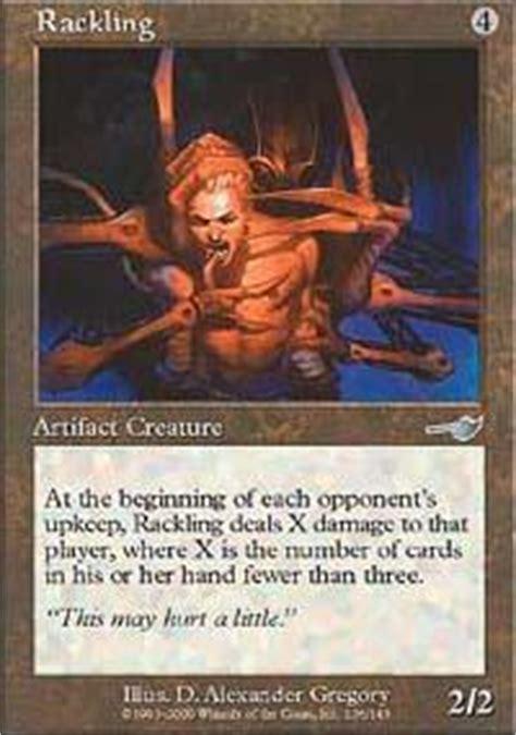 The Rack Deck Mtg by Black Vise Cursed Rack Rackling Magic The Gathering