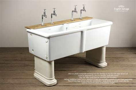 reclaimed shanks double belfast sink bathrooms belfasts