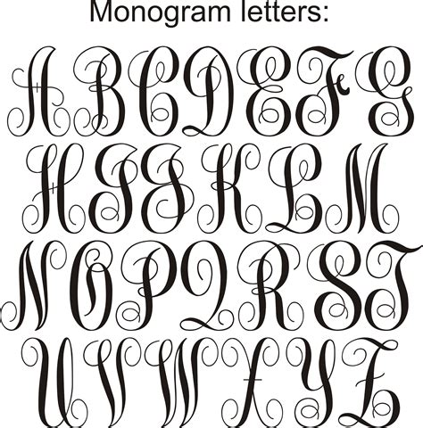 Monogram Letters Jpg Artsy Fartsy Pinterest Monograms Cricut And Cricut Fonts Monogram Letters Template