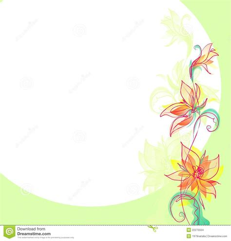 background design with flowers flower background for design stock illustration