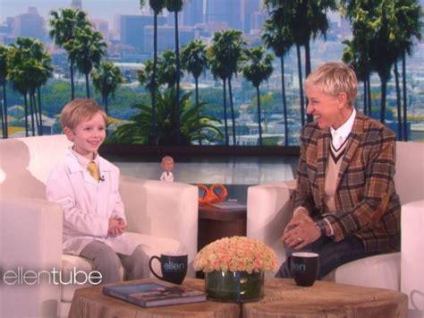 Nate Butkus by 6 Year Old Wilmette Boy Appears On The Ellen Degeneres