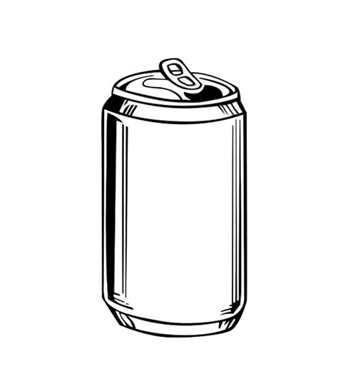 beer can cartoon can outline clipart best