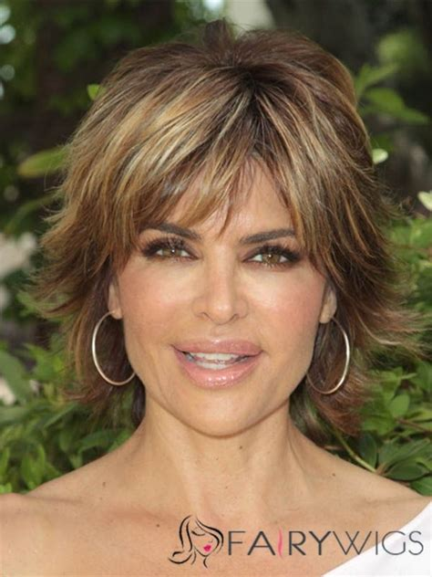 lisa rinna wear wig lisa rinna hairstyle short straight capless remy hair wigs