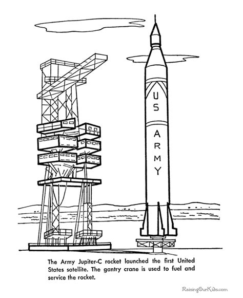 Saturn V Coloring Page by Space Program Printables 129