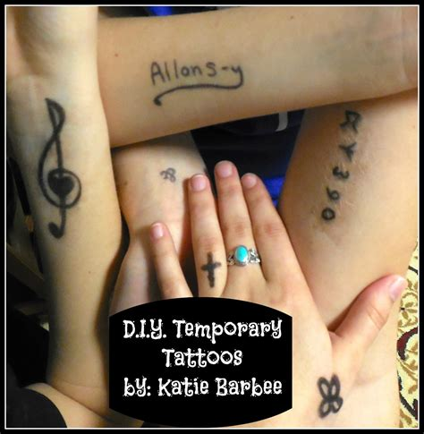 how to make a temporary tattoo with sharpie kool or katastrophy d i y temporary tattoos