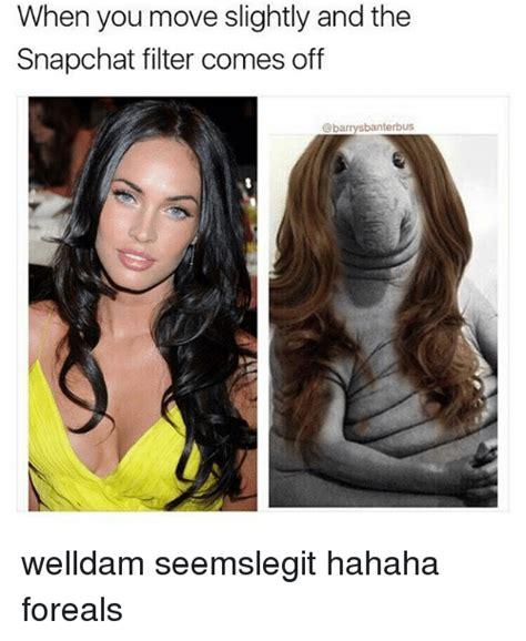 move slightly   snapchat filter