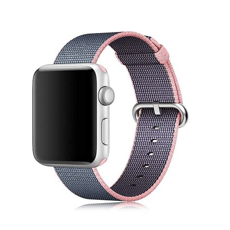 crested woven band for apple 38mm 42mm