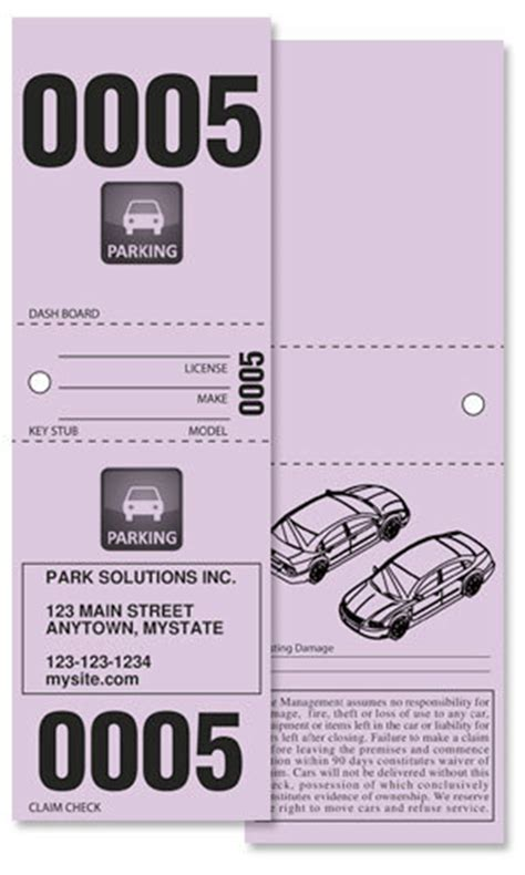printable valet tickets buy design it yourself 3 part valet tickets