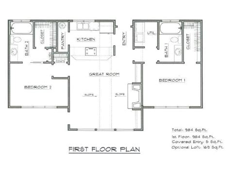 Mountain Cabin Floor Plans by Mountain Cabin Plans Vacation Cabin House Plan Home