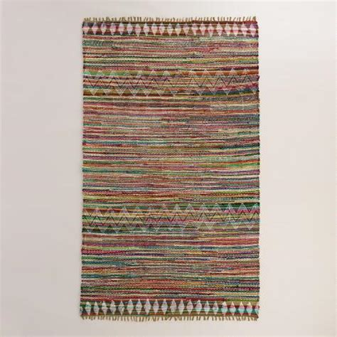 chindi rug world market 5 x8 geometric cotton chindi kelden area rug world market