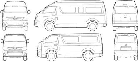 Toyota Hiace Dimensions The Blueprints Blueprints Gt Cars Gt Toyota Gt Toyota
