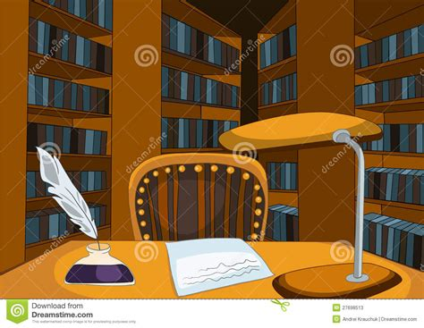 Bookcase Clipart Library Room Cartoon Stock Photos Image 27698513