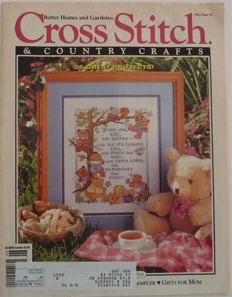 better homes and gardens crafts magazine better homes and gardens cross stitch country crafts