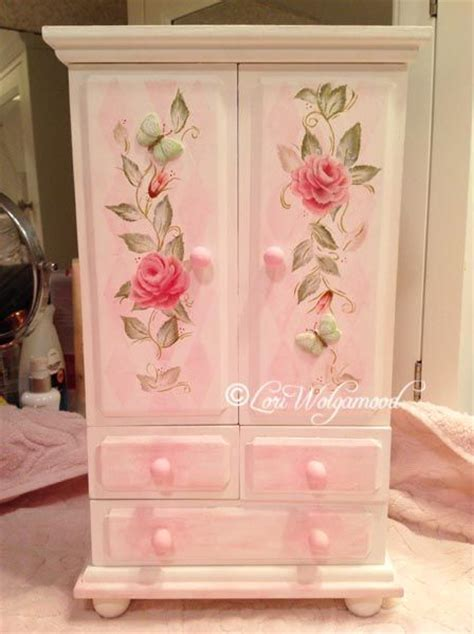 little girl jewelry armoire hand painted jewelry box with heirloom roses sold vintage nest designs creative