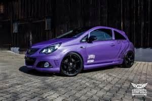 Purple Vauxhall Corsa Schwabenfolia Opel Corsa D Opc Vollfolierung In Lila